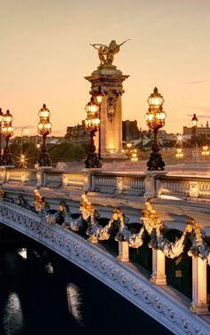 Pont Alexandre Bridge . Paris