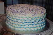 Multi-colored ruffles and swirls
