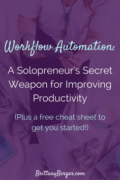 Learn how workflow automation is a solopreneur's secret weapon when it comes to…