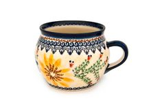 Blue Rose Polish Pottery: Autumn Burst Bubble Mug