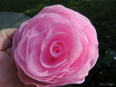 Wedding Hair Flower Paris Pink Cabbage Rose by AnnaDelphiaBridal, $33.00