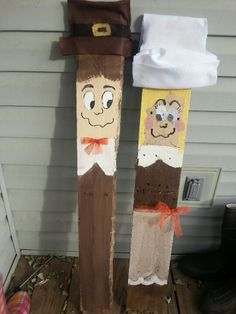 My pilgrim pallet people! Thanksgiving crafts.