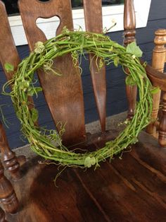 DIY Grapevine Wreaths...this pin is a God send!!! I have tons of wild grape vines that never bear fruit and was cutting a trail tonight and got a bunch of vine clippings.