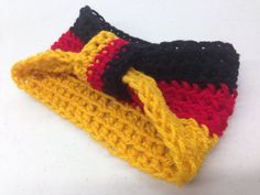Celebrate Octoberfest or show off your German pride with this German flag ear warmer!!!