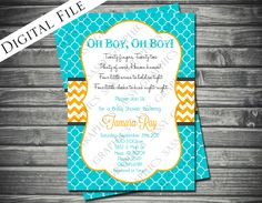 Twins Gender Neutral Baby Shower Invitation. $15.00, via Etsy.