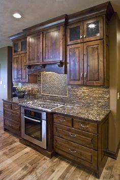 knotty alder kitchen cabinets - Google Search