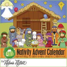 NATIVITY ADVENT CALENDAR    This is a Downloadable PDF File only!   This is an adorable Nativity Advent Calendar! Your child will love