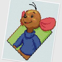 PDF Cross Stitch pattern  0254.Roo  Winnie the Pooh   by PIXcross