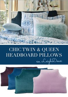 Headboard Pillows: Cute, Chic Home & Dorm Room Bedding Girl Desk, Dorm Room Bedding, Extra Bedroom, Queen Headboard, Awesome Bedrooms, Diy For Girls, Dorm Decorations, Dining Room Table, Easy
