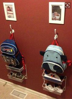 Awesome idea to keep kids organized.