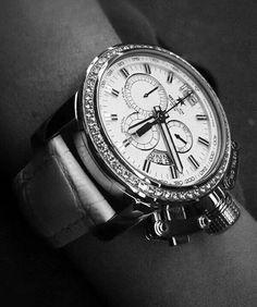 Luxury watch with diamonds