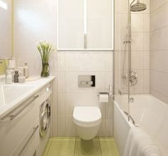 Inspiring Ideas About Bathroom Designs For Small Spaces With Minimalist Concept Also Floating Toilet And Small Bathtub And Classic Shower Design Also White Washing Machine Luxury Hotel Bathroom, Bathroom Design Luxury, Modern Bathroom Design, Bathroom Designs, Bathroom Ideas, Small Bathroom With Shower, Small Bathtub, Floating Toilet, White Washing Machines