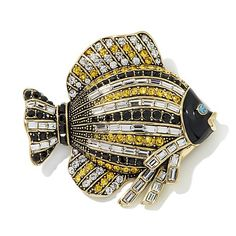 "Heidi Daus ""Fishing for Compliments"" Crystal Pin"