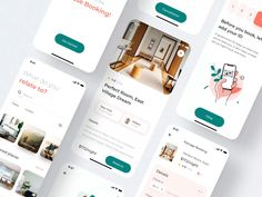This is a modern and convenient UI KIT for your future projects. It contains more than 30 screens that will speed up your design process. Elements are easy to customize and are implemented in the design Web Design, Book Design, Flat Design, Hotel Booking App, Mobile Ui Patterns, Video Editing Apps, Flat Ui, App Design Inspiration, Ui Kit