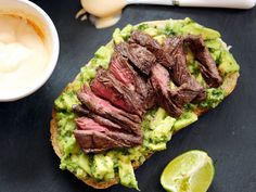 Looking for a savory sandwich idea? The avocado spread and spicy crema adds bursts of flavor in this mouth-watering grilled steak sandwich. One word: YUM