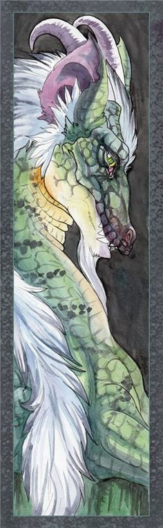 Dragon bookmark by hibbary, Look Hun! IT's A Wolf Dragon.