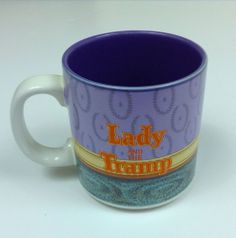 Disney Lady and the Tramp Coffee Tea Ceramic Mug Cup Collectible