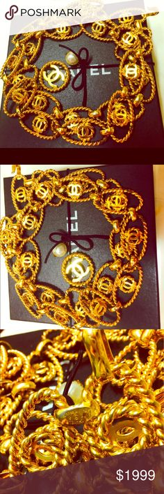 Rare Unique Chanel CC Belt Gold Filled♥️♥️♥️♥️♥️♥️ Rare Limited Edition Chanel CC Belt Set in yellow gold filled featuring a very Unique and Exquisite Design, presenting in very good cosmetic condition, Chanel stamp posted, comes with Chanel box. A great Collectible and Smart Investment Guaranteed 🌹🌹🌹🌹🌹🌹🌹🌹🌹 CHANEL Accessories Belts