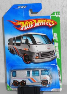 Hot Wheels treasure hunt GMC motorhome Custom Hot Wheels, Hot Wheels Cars, Airstream Motorhome, Toys R Us Kids, Hot Wheels Treasure Hunt, Brand Stickers, Matchbox Cars, Old Toys, Legos