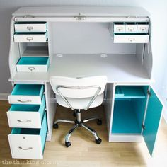 Painting the inside of your desk drawers will ignite your creativity!
