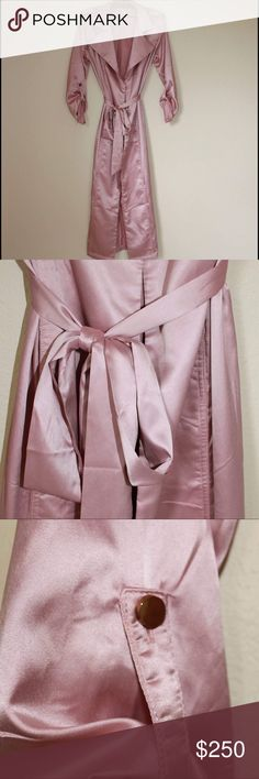 Rose Pink Silk Trenchcoat Never Worn Jackets & Coats Trench Coats