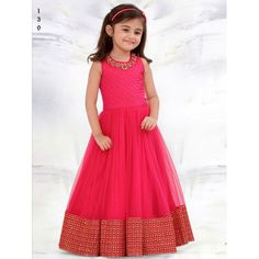 Designer Gowns for Girls. Buy online children's gowns dresses & frocks at best price for 1 to 16 years girls. Shop girls designer gowns for Wedding, Birthday, Party & Festival wear. Kids Party Wear Dresses, Kids Dress Wear, Kids Gown, Kids Party Wear Frocks, Dress Girl, Kids Wear, Gowns For Girls, Frocks For Girls, Little Girl Dresses