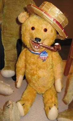 Image detail for -1907 Laughing Roosevelt Bear , made by the Columbia Teddy Bear ...