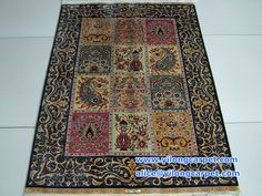 This carpet is contained 12 designs. I am shocked by its design. size: 2.7*4ft-82*122cm Handmade silk carpet & rugs.Do you like it? www.yilongcarpet.com alice@yilongcarpet.com whatsapp&viber: +86 15638927921