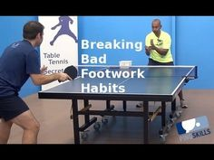 Breaking Bad Footwork Habits | Table Tennis | PingSkills Table Tennis Game, Tennis Tips, Breaking Bad, Spin, Coaching, Sports, Training, Hs Sports, Sport