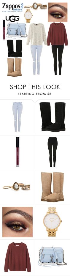 """""""The Icon Perfected: UGG Classic II Contest Entry"""" by mhuerta072 ❤ liked on Polyvore featuring Topshop, UGG Australia, Huda Beauty, UGG, Nixon, Toast, Rebecca Minkoff, Nolita, ugg and contestentry"""