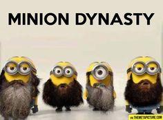 Duck dynasty minions I love of my fav things in one.minions and duck dynasty! Minions Fans, Cute Minions, Minions Despicable Me, Minions Quotes, Funny Minion, Minion Humor, Minion Stuff, Minions 2014, Minions Cartoon