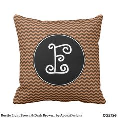 Shop Rustic Light Brown & Dark Brown Wavy Pattern Throw Pillow created by AponxDesigns. Rustic Lighting, Rustic Design, Custom Pillows, Dark Brown, Your Design, Throw Pillows, Make It Yourself, Fabric, Pattern