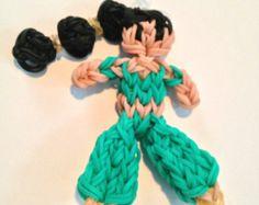 sailor moon rainbow loom   Princess Jasmine Rainbow Loom Figur ine ...