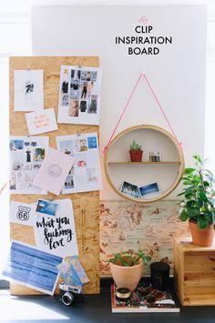 DIY Clip Inspiration Board