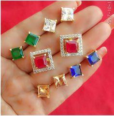 Markings For Gold Jewelry Buy Earrings, Simple Earrings, Stone Earrings, Black Hills Gold Jewelry, Gold Jewelry Simple, Gold Earrings Designs, Necklace Designs, Gold Designs, Ear Jewelry