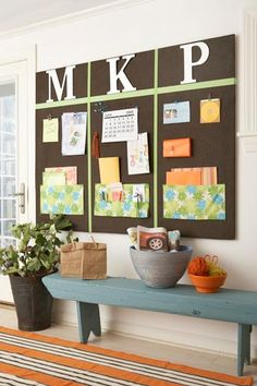 "Bulletin board, pocket combo for the kids stuff. This would be a good replacement for the existing ""art gallery"" in my mud room now that my kids are in school."