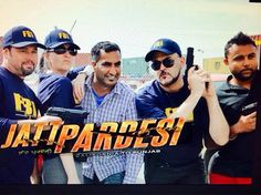 Hollywood Actors Mike Soldier , Nancy French and others in a movie scene in up coming Punjabi movie #JattPardesi releasing soon