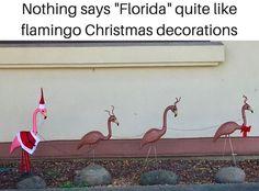 M<3 Christmas 2017, Merry Christmas, Xmas, Florida Funny, Jupiter Florida, Flamingo Decor, Florida Living, Tis The Season, Christmas Decorations