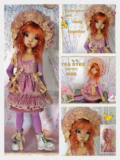 OOAK Handmade Outfit for Kaye Wiggs MSD BJD by JazzyFran