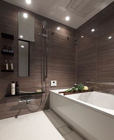 Bathroom Spa, Grey Bathrooms, Simple Bathroom, Japanese Shower, Japanese Bathroom, Bathroom Windows, Tap Room, Detached House, New Homes