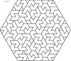 Diseños Numéricos: EXÁGONOS 12