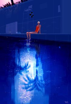 """pascalcampion: """"Mc Cambridge Pool #Pascalcampion #Burbank We were walking back from the park when I saw this…"""