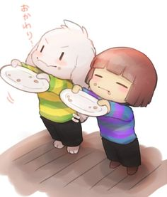 Asriel and Frisk by ひつじロボ (@hit_ton_ton) | Twitter