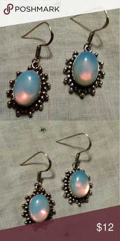 Beautiful Opalite Earrings New never worn. Stamped .925 on post. Genuine opalite gems. No trades Jewelry Earrings