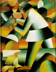 The Woodcutter (1912) Kasimir Malevich. Suprematism in Russian Cubism