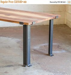 Kindred Series Bar Table Legs - Bold MFG's Kindred Table Base Series allows you to easily configure your own custom steel table base to use with any table top you'd like. This table base system is per Iron Furniture, Steel Furniture, Home Decor Furniture, Furniture Design, Luxury Furniture, Furniture Removal, French Furniture, Handmade Furniture, Steel Table Legs
