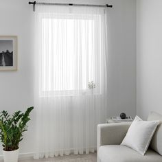HILDRUN white, dotted, Sheer curtains, 1 pair, 145x250 cm - IKEA Ikea White Curtains, Voile Curtains, Cosy Bedroom, Bedroom Wall, Bedroom Decor, Boy And Girl Shared Bedroom, Small Sunroom, Living Room Blinds, Ikea Inspiration