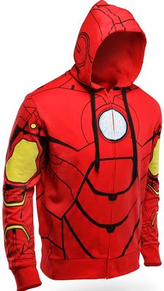 Just like a Superhero, you can have a secret identity with this Iron Man Costume Hoodie. If you want a disguise, just put it on and put up the hood. Bam. You are now Iron Man.    This officially-licensed Iron Man hoodie looks like it came straight out of Stark Industries. It just doesn't let you fly and it's only from the waist up. Oh, and it isn't really armor either.