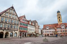 The Market Square in Bad Mergentheim, Germany.  This city was the surprise discovery on the Romantic Road.