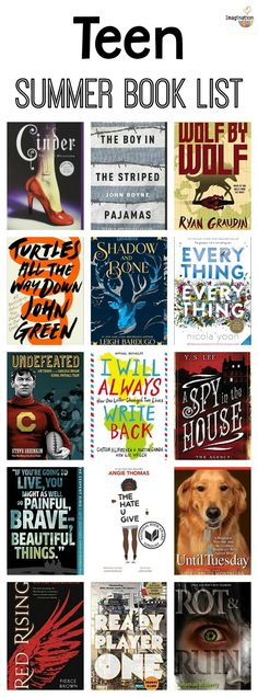 Teen Summer Reading List (Ages 13 – summer reading book list for teens grade and High School) Challenge For Teens, Book Challenge, Reading Challenge, High School Books, High School Reading, 8th Grade Reading List, Summer Books, Summer Reading Lists, Good Summer Reads